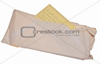 Old Letter and Envelope