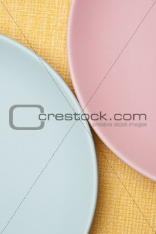 Abstract of Pastel Plates