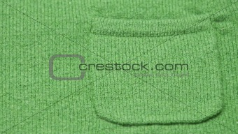 Green Pocket on a Sweater