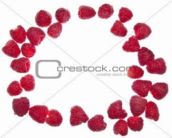 Circle of Raspberries