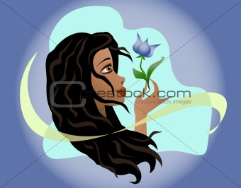 Beautiful girl. Vector illustration