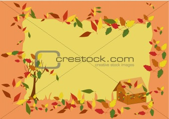 Autumn frame (vector)