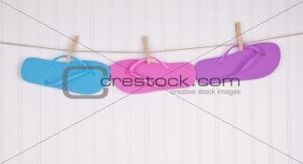Flip Flops on a Clothesline