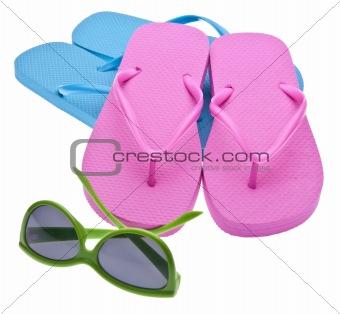 Flip flips and Sunglasses