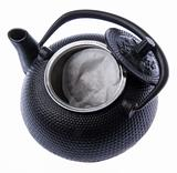 Open Tea Pot with Tea Bag