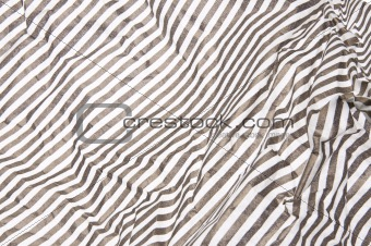 Gray Striped Crumpled Paper Background