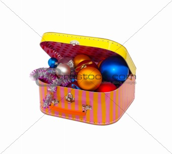 Christmas Box and Decorations