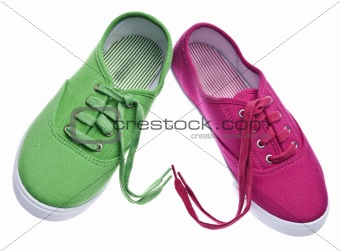 Pair of Shoes with Laces in Heart