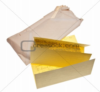 Old Letter and Envelope