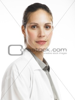 woman with lab coat 2