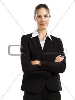 business woman black suit 1
