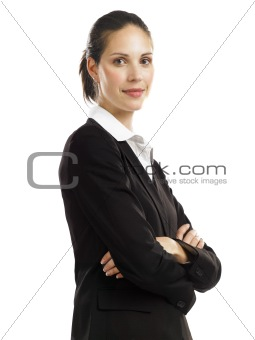Business woman with black suit 2