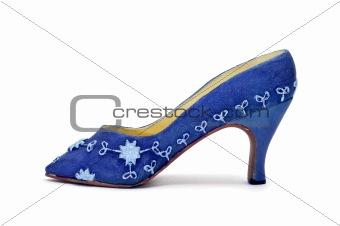 a miniature high-heeled shoe