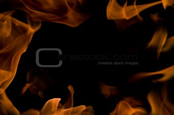 background with fire frames