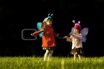 Fairies on the lawn
