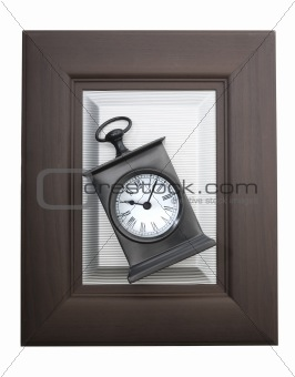 Alarm clock in a frame