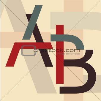 """Alphabet """"A, B"""""""