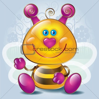 Cartoon little Bee