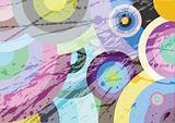 Multicolored circles