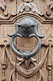 Doorknocker on allwood door.