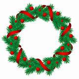 Christmas pine garland