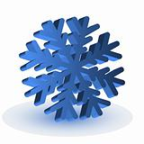 The blue isolated snowflake