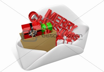 3d christmas letter and gifts
