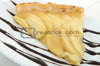 slice of apple tart