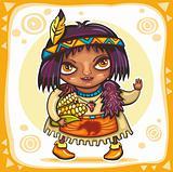 Thanksgiving theme: Indian cirl