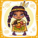 Thanksgiving theme: Indian cirl