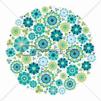 Green design - Flower circle.