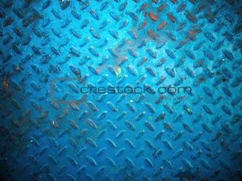 blue paint color floor steel plate