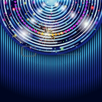 Abstract technology circles vector background. Eps 10