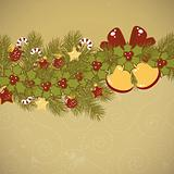 Christmas old background vector card
