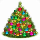 Lush Christmas tree vector image