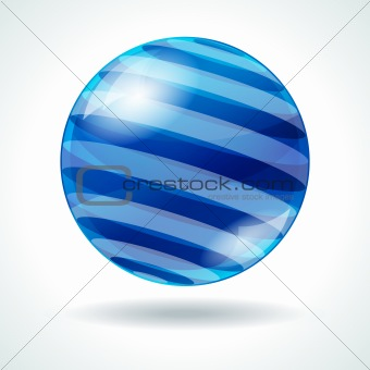 Abstract sphere with stripes