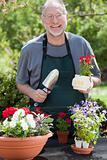 Man Gardening Outdoors