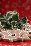 Gingerbread cookies and holly twig
