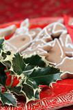 Holly twig and gingerbread cookies