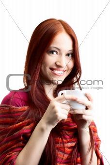 beauty woman with fair hair