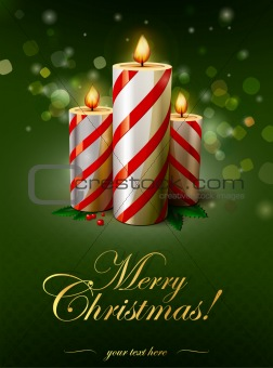 Christmas vector candles