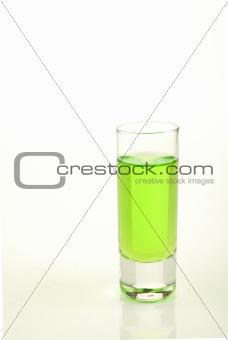 Green shot of absinth