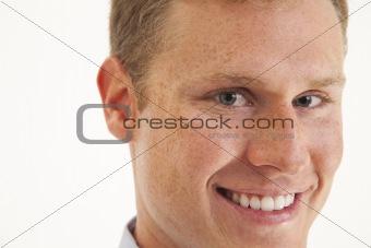 Close up portrait of young businessman