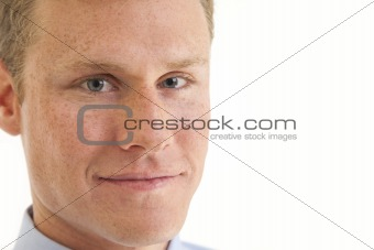 Close up portrait of young businessman