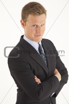 Portrait of smiling young businessman