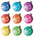 set of holiday balls