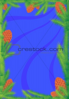 Background with pine cones