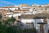 Panoramic view of Bovino. Apulia. Italy.