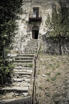 Abandoned palace. Spoleto. Umbria.