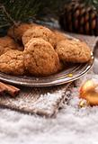 Santa Clause almond cookies